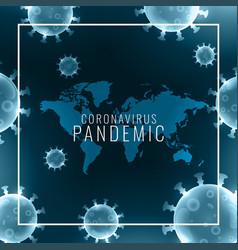 Global coronavirus pandemic background with virus vector