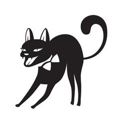 Halloween cartoon cat vector