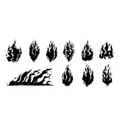 Hand drawn fire vector