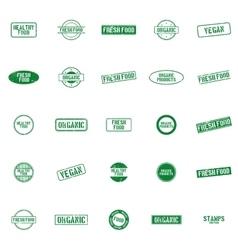 Healthy food labels vector