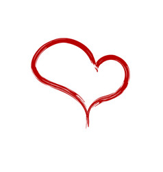heart brush icon vector image