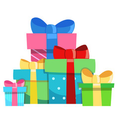 holiday presents vector image