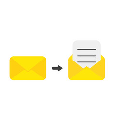 icon concept of closed and opened mail envelope vector image