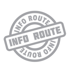Info route rubber stamp vector