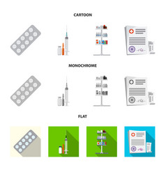 isolated object of pharmacy and hospital logo vector image