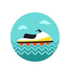 Jet Ski icon Summer Vacation vector