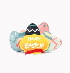 label elements easter holiday vector image