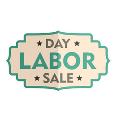 labor day sale badge logo icon flat style vector image