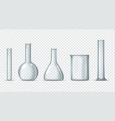 Laboratory glass equipment vector