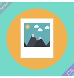 Landscape photo icon - vector image
