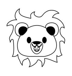 Lion cute animal cartoon icon image vector