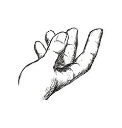 Man hand gesture hand drawn vector