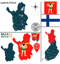 map of lapland finland vector image
