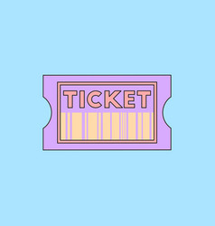 Movie ticket in flat style vector