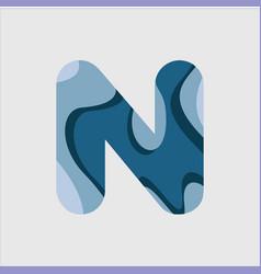N water font template design vector