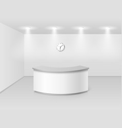 office or hotel interior with reception counter vector image