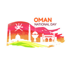 oman national day symbol vector image