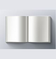 Open blank clear catalogue on gray back vector