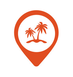 palm location icon vector image