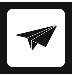 Paper plane icon simple style vector image
