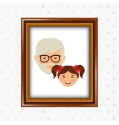 parent picture design vector image