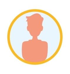 Person profile silhouette vector image