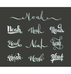 Personal name Noah vector image vector image