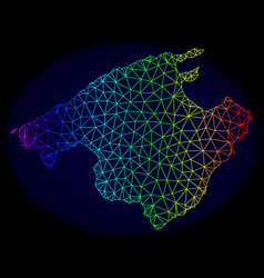 Polygonal network spectrum mesh map of vector