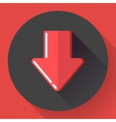 Red prohibited or banned download symbol Flat vector image