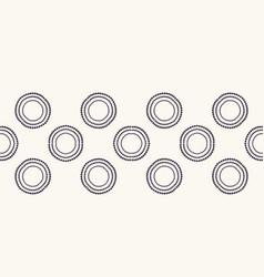 Seamless border pattern hand drawn polka dot vector