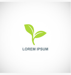 Seed plant logo vector