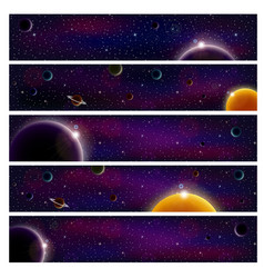 set 5 banners for website images sun vector image