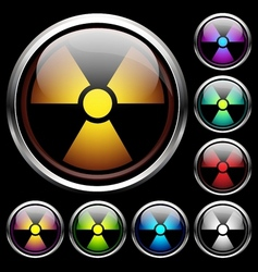 Set icons of radiation vector image
