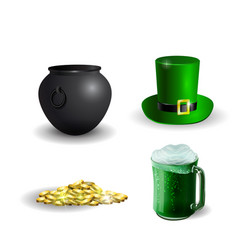 set of elements for st patrick s day vector image vector image