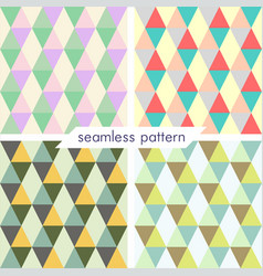 Set of four seamless geometrical patterns 21 vector