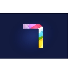 Seven 7 letter logo icon symbol vector