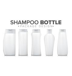 Shampoo bottle mock up template plastic vector