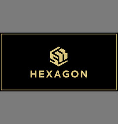 sk hexagon logo design inspiration vector image