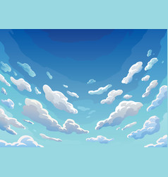 Sky clouds morning landscape with clouds and vector