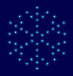 Star snowflake vector