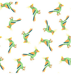 summer seamless pattern with parrots vector image