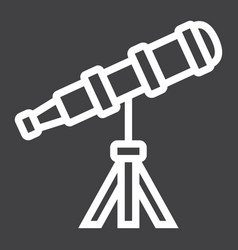 telescope line icon astronomy and science vector image