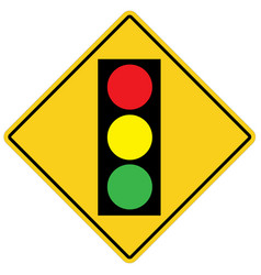 traffic light on white background flat style vector image