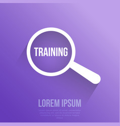training word magnifying glass vector image