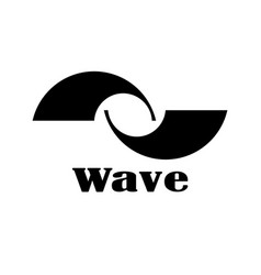 two abstract waves vector image