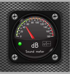 Volume unit meter decibel gauge sound audio vector