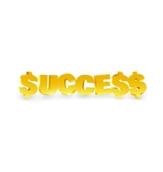 Word success made of gold vector