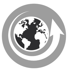 world map with arrow vector image