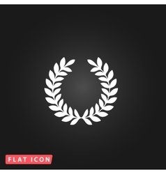 Wreath flat icon vector