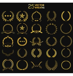 25 Wreaths vector image vector image